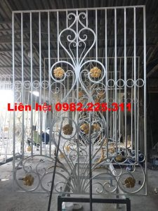 Cửa cổng sắt mỹ thuật giá rẻ hà nội