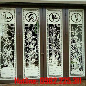 Cửa cổng sắt CNC mỹ thuật đẹp CC-02