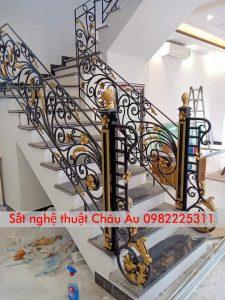 sắt mỹ thuật cao cầu thang sắt cấp tại quận Thanh xuân