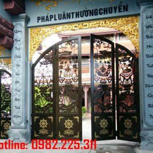 Cửa cổng sắt CNC mỹ thuật đẹp CC-12
