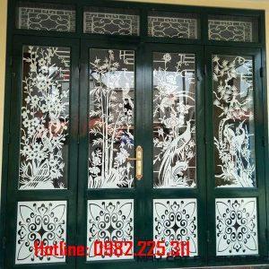 Cửa cổng sắt CNC mỹ thuật đẹp CC-06