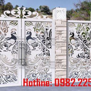 Cửa cổng sắt CNC mỹ thuật đẹp CC-14