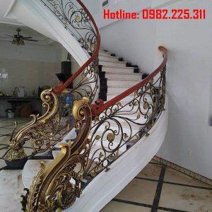 Cầu thang sắt mỹ thuật CT-06