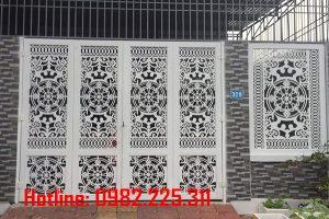 Cửa Cổng 4 cánh Sắt Mỹ Thuật Đẹp Tại Bắc Giang