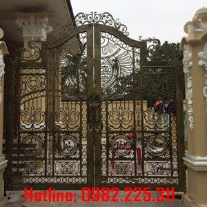 Cửa cổng sắt CNC mỹ thuật đẹp CC-75