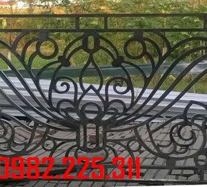 Lan can sắt, ban công sắt cắt CNC nghệ thuật đẹp LC-22