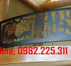 Lan can sắt, ban công sắt cắt CNC nghệ thuật đẹp LC-19