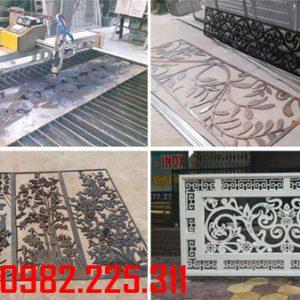 Lan can sắt, ban công sắt cắt CNC nghệ thuật đẹp LC-14