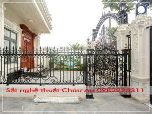 mẫu cửa cổng sắt nghệ thuật 03 biệt thự