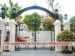 cửa cổng sắt mỹ thuật đẹp