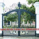 Thi công hàng rào sắt mỹ thuật – cửa công sắt mỹ thuật tại Hà Nội