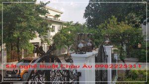 Cửa cổng sắt mỹ thuật cao cấp tại tp Bắc Ninh VN