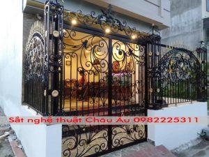 cửa cổng , mẫu cửa cổng sắt nghệ thuật đẹp 1