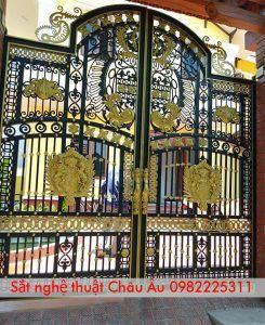 cửa cổng , mẫu cửa cổng sắt nghệ thuật đẹp 3