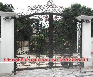 cửa cổng , mẫu cửa cổng sắt nghệ thuật đẹp 4