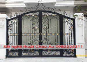 cửa cổng , mẫu cửa cổng sắt nghệ thuật đẹp 9