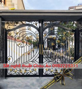 cửa cổng sắt nghệ thuật đẹp tại bắc ninh