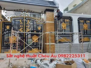 cửa cổng sắt nghệ thuật thành phố bắc ninh, thi công cửa cổng