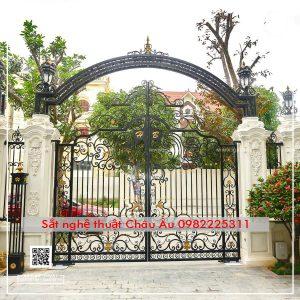 cổng mỹ thuật đẹp tân cổ điển sang trọng