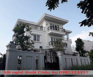Cửa cổng sắt mỹ thuật hiện đại Hà Nội