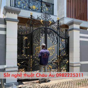 mẫu cửa cổng sắt mỹ thuật – cửa cổng sắt nghệ thuật Tp Thái Nguyên