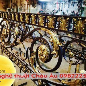 Hạng mục ban công cầu thang sắt mỹ thuật tai Phố Mới Bắc Ninh