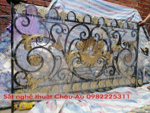 Mẫu lan can sắt mỹ thuật tại Hà Nội đẹp