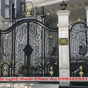Cổng sắt nghệ thuật cao cấp – Các mẫu cổng sắt mỹ thuật đẹp