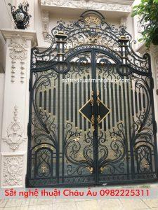 Cửa cổngsắt nghệ thuật cao cấp nhất hà nội