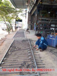 hàng rào sắt mỹ nghệ