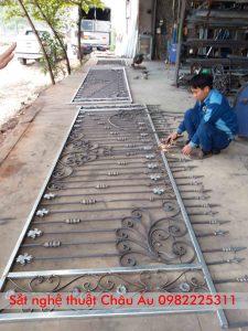 giá hàng rào sắt mỹ thuật