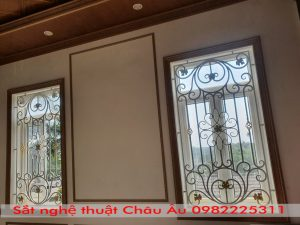 cửa sổ hoa sắt nghệ thuật