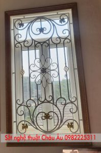 hoa sắt cửa sổ nghệ thuật