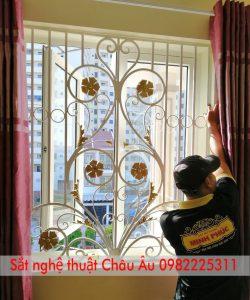 bông sắt cửa sổ
