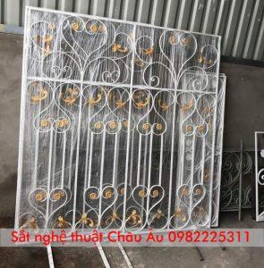mẫu hoa sắt cửa sổ