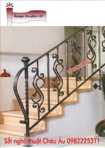 Làm Cầu thang sắt nghệ thuật đơn giản