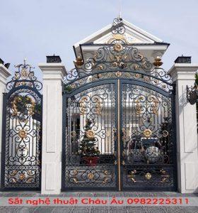 cổng sắt nghệ thuật đẹp