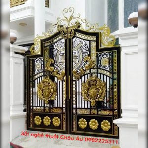 cổng sắt nghệ thuật 2 cánh
