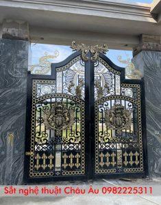 cổng sắt mỹ thuật đẹp